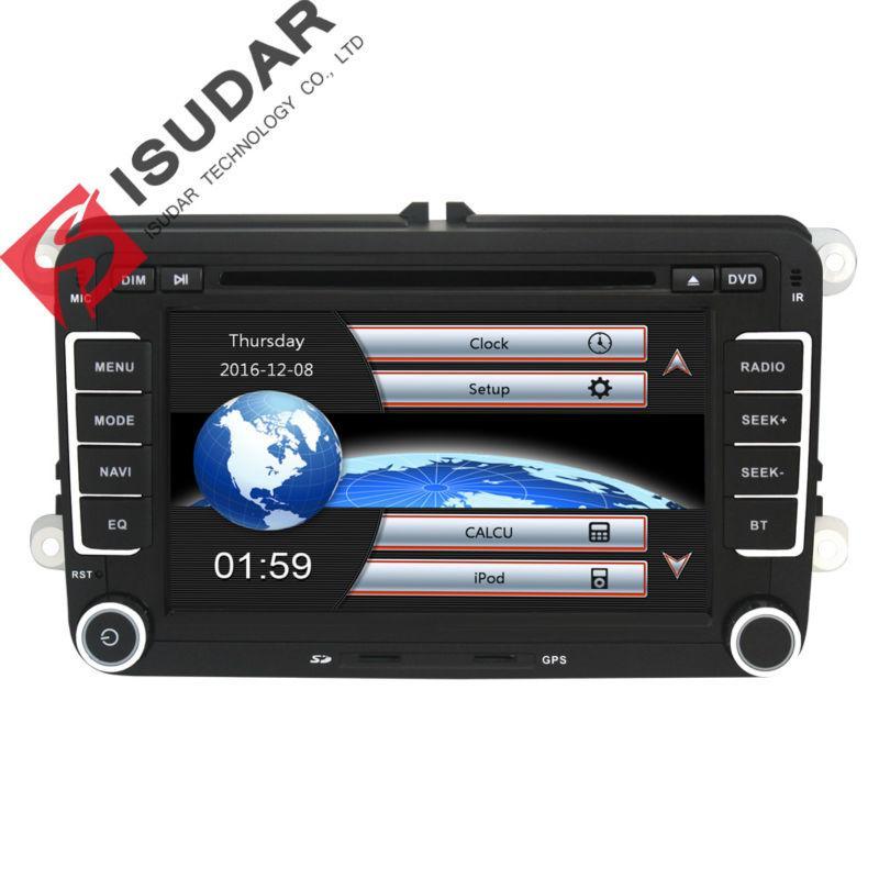 3e515a5d20b Compre ¡Venta Al Por Mayor! 2 Din Reproductor De DVD Para Automóvil De 7  Pulgadas Para VW / Volkswagen / Passat / POLO / GOLF / Skoda / Seat / Leon  Con ...