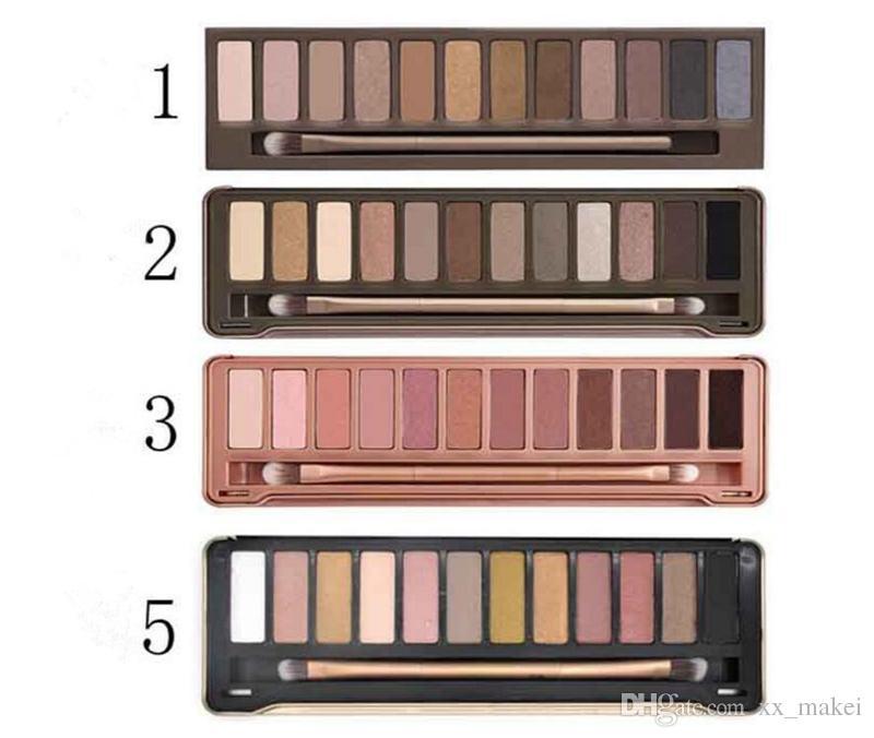 En stock Meilleure qualité Nude palette d'ombres à paupières maquillage fumé NO: 1 2 3 5 Palette 12 couleurs palette nude Ombre à paupières mat Natual Cosmetics