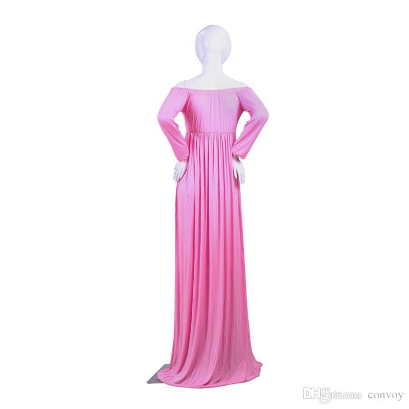 Enceinte robe élégante robe de maternité coton col V Split avant photographie robe femmes grande taille en mousseline de soie robes décontractées WND04