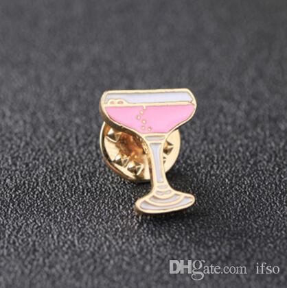 Flamingo Weinflasche Tasse Rose Blume Herzform Cartoon Brosche Pins Kragen Tasche Jacke Broschen Schmuck Für Frauen Mädchen