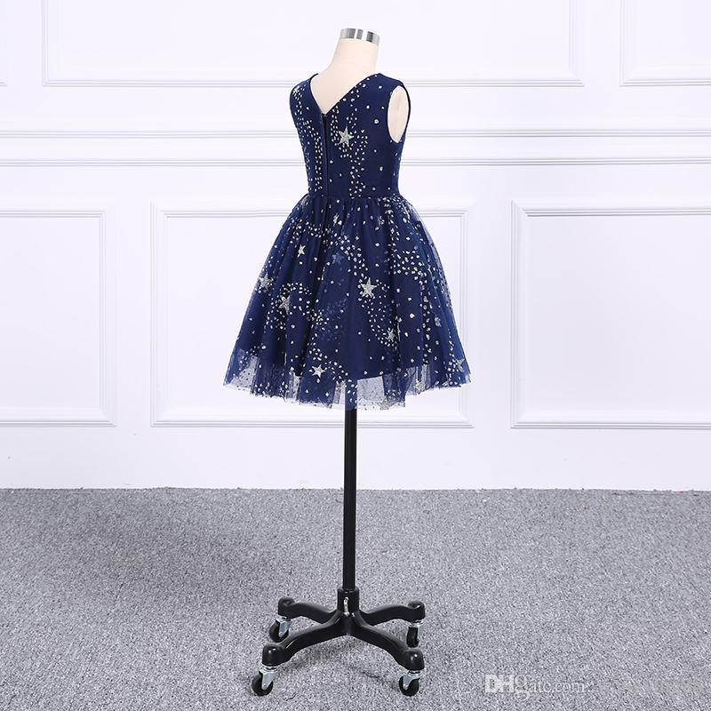 2018 Yeni Moda Prenses Etek Çiçek kız Elbise Çocuklar Resmi Giyim Peri Disposition Elegance Kolsuz