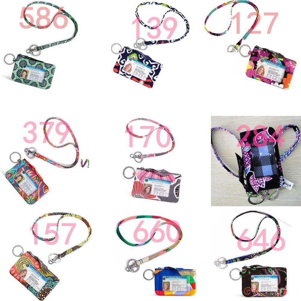 NWT VB Algodão Zip ID Caso com Colhedor ID Card Holder Crédito Bus Card Case
