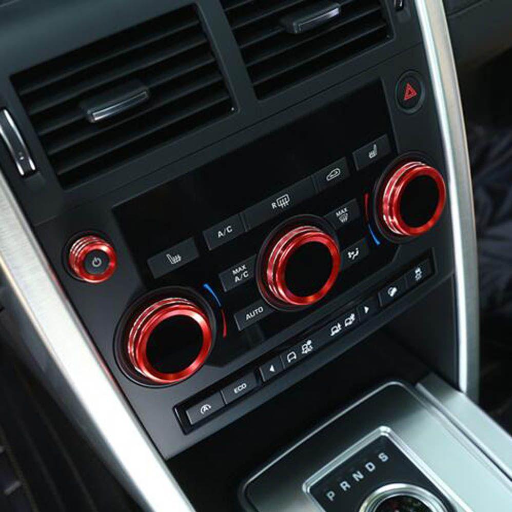 Front Dashboard Console Air Conditioner Knob Volume Button Decorative Cover Trim Sticker For