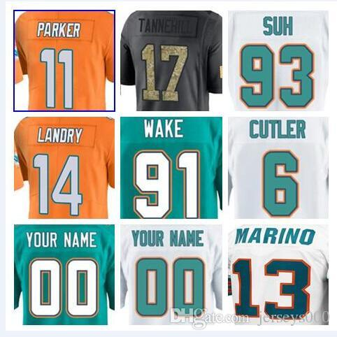 official photos b8e71 3db15 Miami Jay Cutler Dolphins jerseys Ryan Tannehill Cameron Wake Kiko Alonso  green anthracite olive salute to service american football jersey