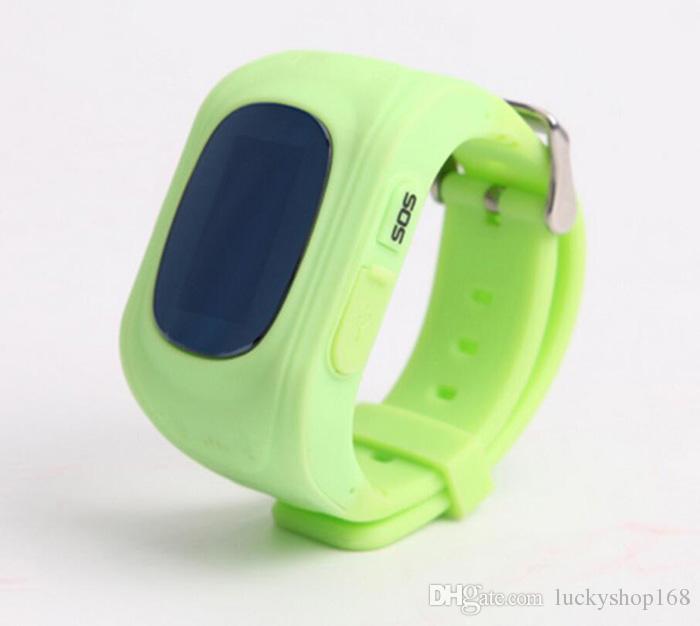 2018 Q50 Kids Rastreador GPS para niños Reloj para teléfono inteligente SIM Banda cuádruple GSM Safe SOS Llame para Android IOS Smart Watch Sim Card