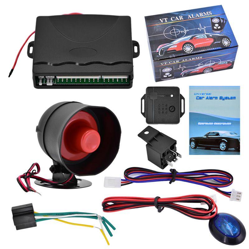 2019 12v Car Alarm System One Way Vehicle Burglar Alarm Security