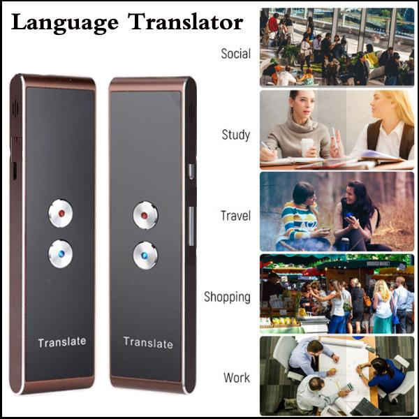 Smart Language Translator Device Intelligent Electronic Pocket Voice  Bluetooth 34 Languages Interpretor with APP for Learning Travel