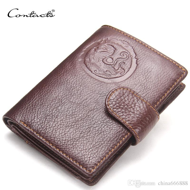 Genuine Leather Wallets Spring High Quality Brand New Mens Leather Wallet  Pockets Card Clutch Center Bifold Purse For Men With Bag Western Wallets  Vegan ... 534722535ca98