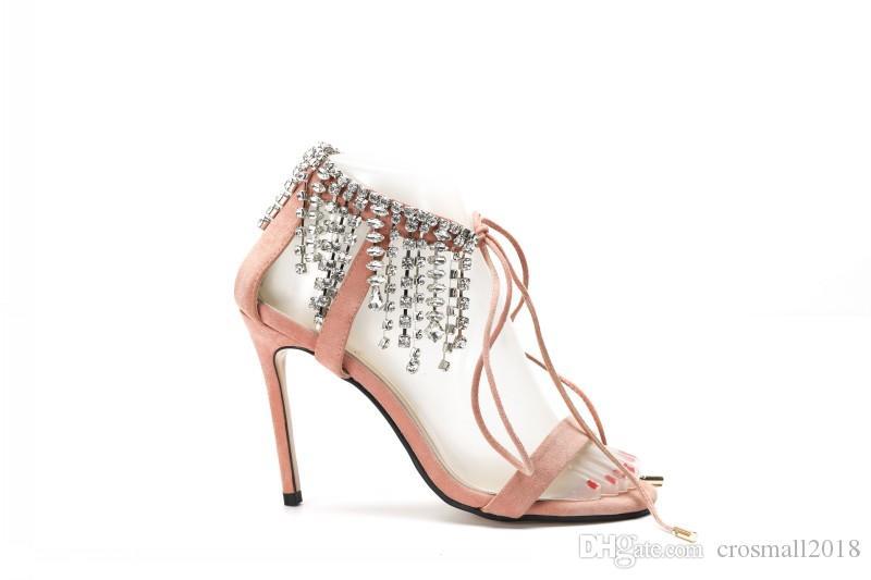 Altos Zapatos Suede De Sandalias Fiesta Noche Para Finos Moda Bling Tacones 2018 Mujer Bombas IDHE29