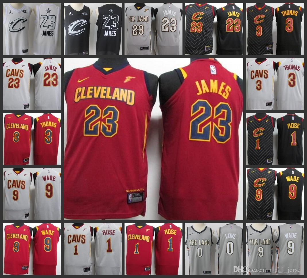 dbcc49f5b 2017-18 New Season Cleveland Men Cavaliers Jerseys  23 LeBron James 1 Derrick  Rose 3 Isaiah Thomas 9 Dwyane Wade 100% Stitched Jersey Online with ...