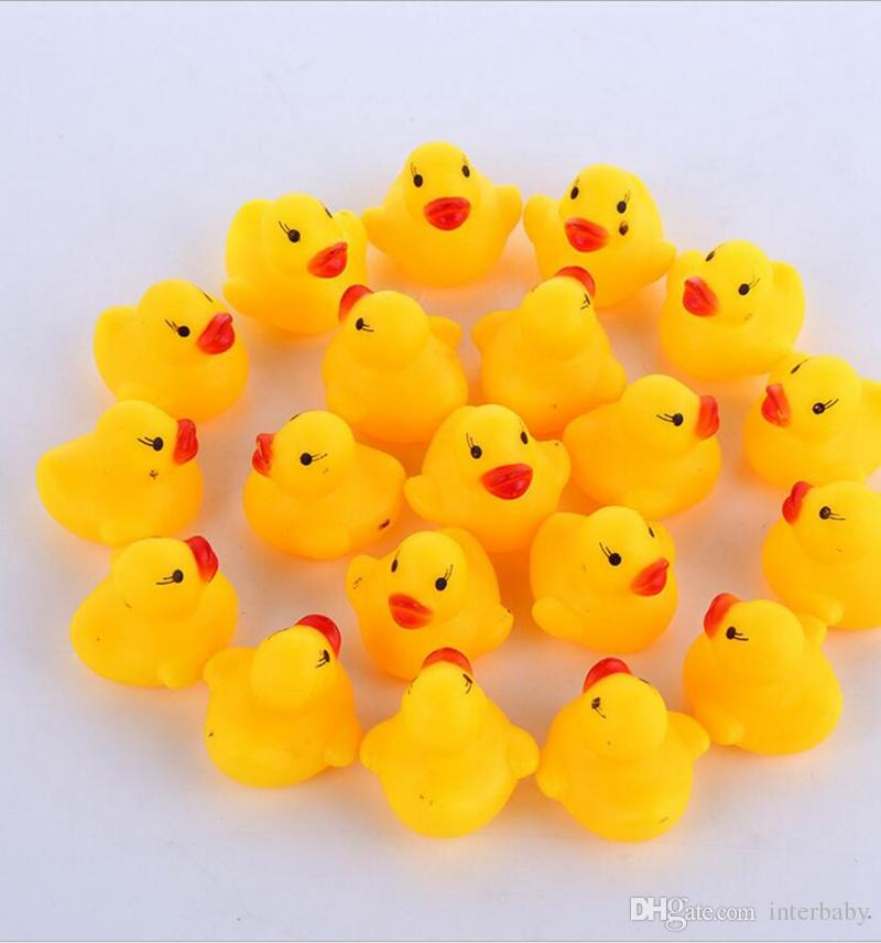 2018 Baby Bath Ducks Mini Rubber Bath Duck With Sound Kids Shower ...