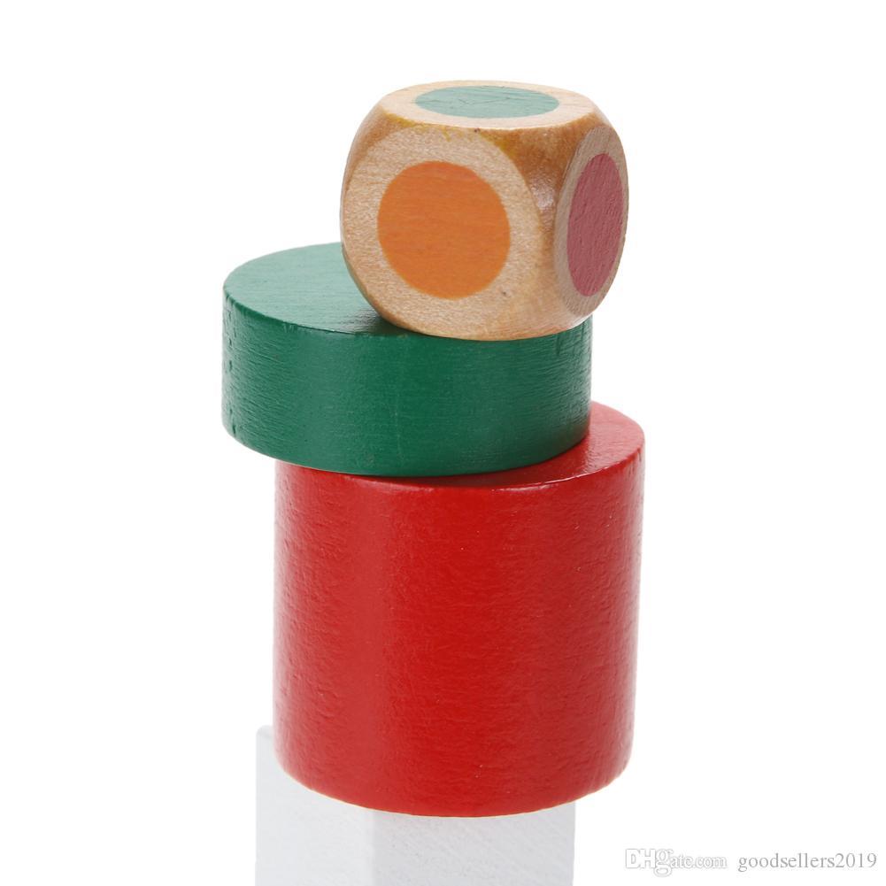Lernen Bildung Holzspielzeug Hemisphäre Balance Stapeln Spiel Spielzeug für Kinder Pädagogisches Holzspielzeug Bausteine Kinder Baby Spielzeug