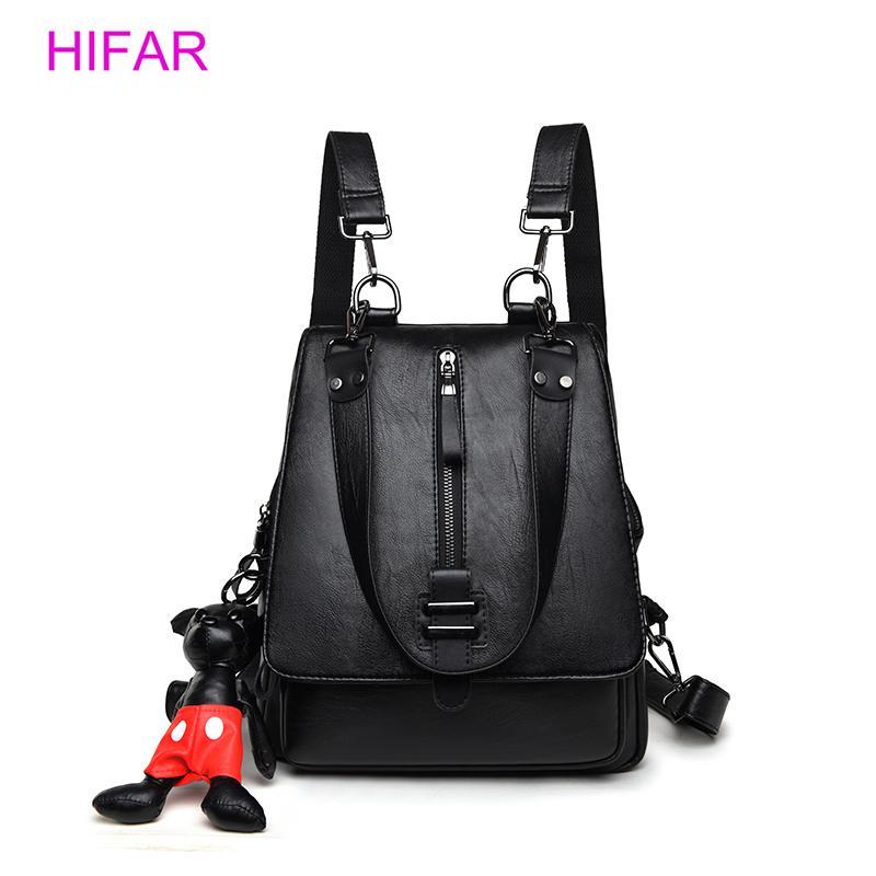 b71403d2d914 Women s Backpacks Leather Female Travel Shoulder Bag High Quality ...
