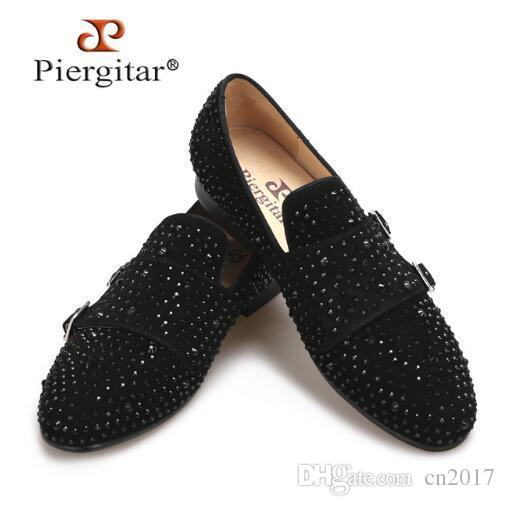 2018 New Suede Men Loafers with Black Rhinestone And Hasp Wedding And Party  Men Casual Shoes Somking Slippers Big Size Men Flats Casual Shoes Carrefour  ... 271e6da6d