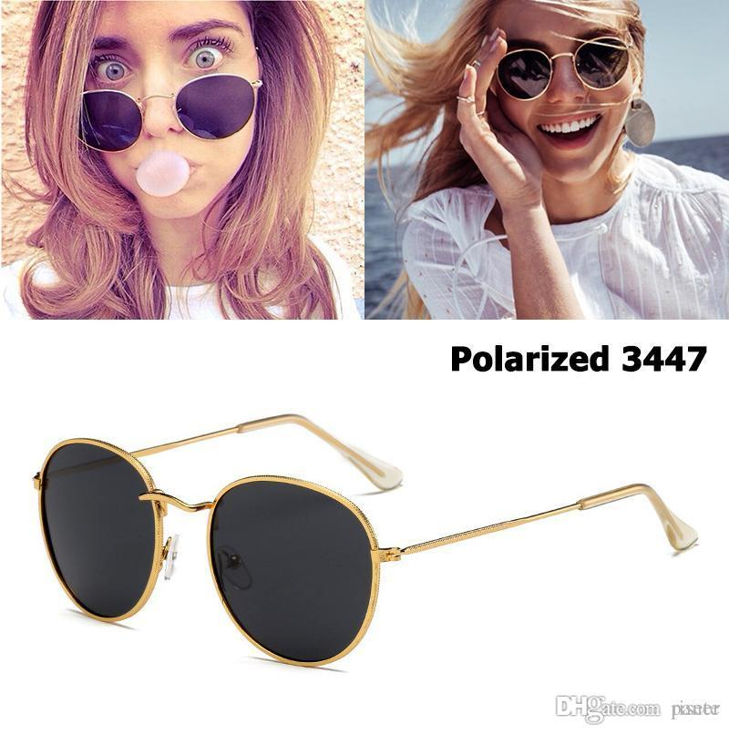 2a6711d9794 JackJad New Classic 3447 Round Metal Style Polarized Sunglasses Men Women  Vintage Retro Brand Design Sun Glasses Oculos De Sol Glasses For Men Mens  ...
