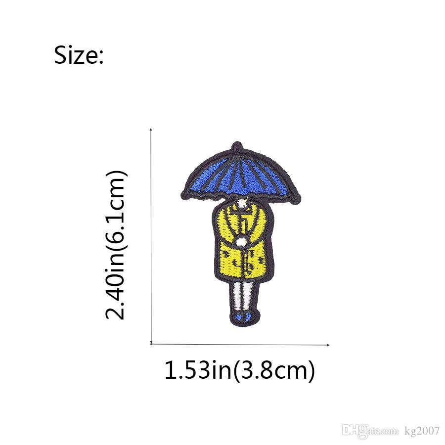 Diy Umbrella Girl Applique Cute Patches for Glue Embroidery Clothing Patch for Kid Garment Ironinng on Transfer Patch Accessories Decoration