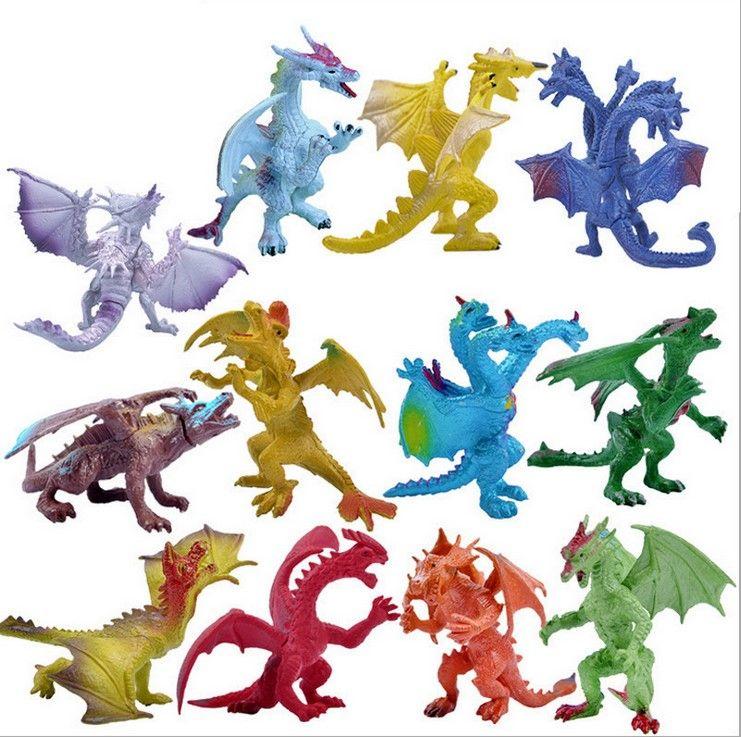 Weihnachtsgeschenke Jungen 12.Dinosaurier Modell Nette Tiere Geschenke Jungen Spielzeug Hobbies Kinder Kunststoff Dinosaurus Action Figuren 12 Stücke Ein Set Spielzeug Baby