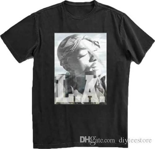 dd5240910 Tupac La Tupac T Shirt S-M-L-Xl-2Xl Brand New Official T Shirt T Shirt Men  Premium Custom Short Sleeve Boyfriend's Plus Size T-Shirts