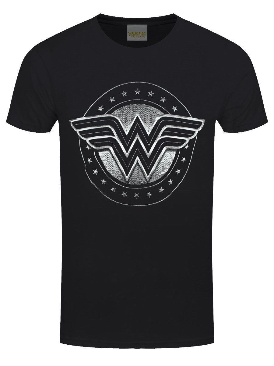 2b92181ad Wonder Woman Chrome Logo Men'S Black T Shirt One Tee A Day Random Graphic  Tees From Jackiegreen, $11.01| DHgate.Com