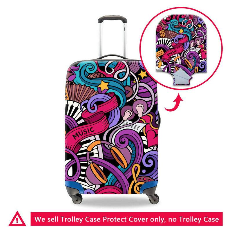 New Travel On Road Luggage Protector Covers Apply To 18-30 Inch Trolley Case Spandex Elastic Antifouling Men's Suitcase Cover