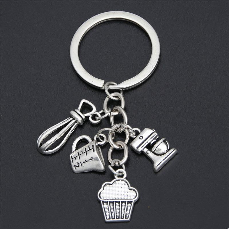 Gift For Cooks Chefs Baker Keychain Measuring Spoons Key Ring Key  Accessories Kitchen Chains Baking Jewelry E1902 Key Ring Holder Photo  Keyring From ... 6cdc8dd3c
