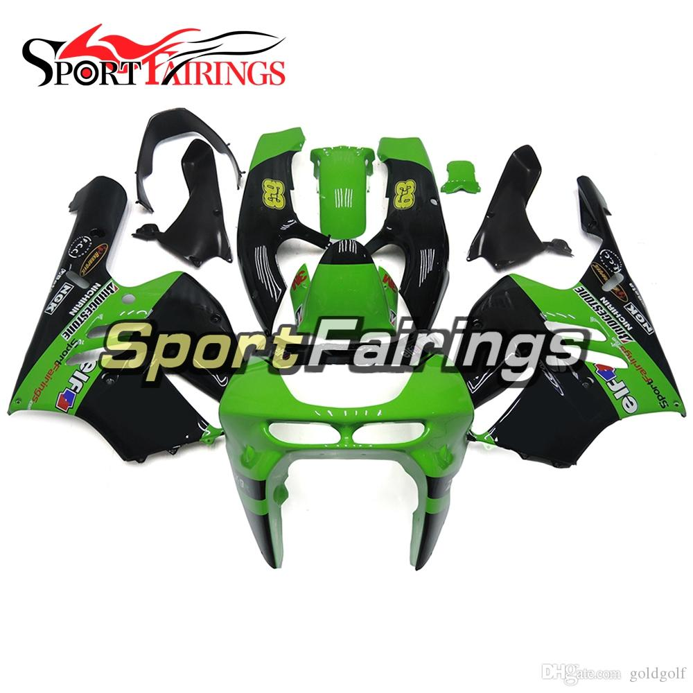 Motorcycles Complete Fairing Kit Fit Kawasaki ZX9R ZX-9R Year 1994 1995 1996 1997 Sportbike ABS Plastics Motorcycles Green Black Body Kit