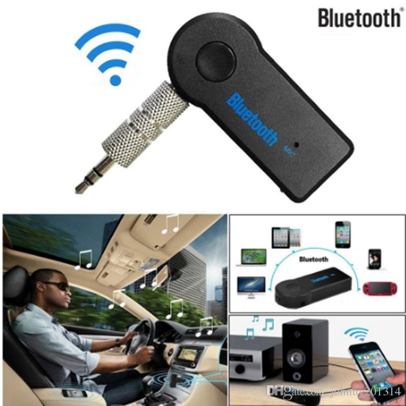 Bluetooth Musik Audio Stereo Adapter Empfänger für Auto 3,5mm AUX Home Lautsprecher MP3 Auto Musik Sound System Freisprechfunktion Eingebautes Mikrofon