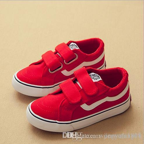 528ef8159a Kids Shoes New Children S Canvas 2018 White Shoes Men S And Women S Magic  Stickers Casual Shoe Kids Silver Shoes Shop For Kids Shoes From  Jingyaning01