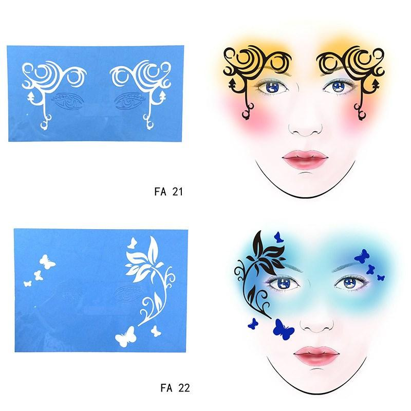 face paint stencil flower butterfly diy design painting reusable eye