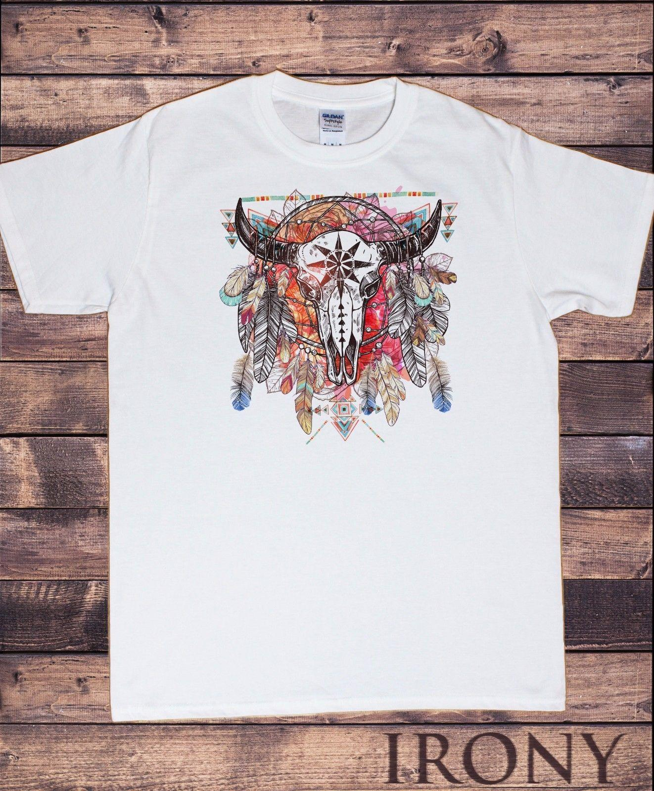 9fb79752 Men's T Shirt Tribal Red Indian Animal Skull Head Native American Feathers  TS958 Funny Unisex Casual Tee Gift T Shirt Very Funny T Shirts Witty Tee  Shirts ...