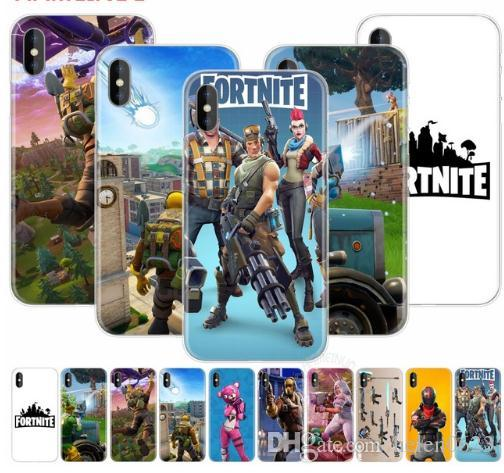 low priced 4b537 7aa7e 2018 Best Popular Game Battle royale fortnite phone case soft Silicone  black tpu for Mobile iPhone X 6 7 8 plus 5 5s 6s se for Apple TPU