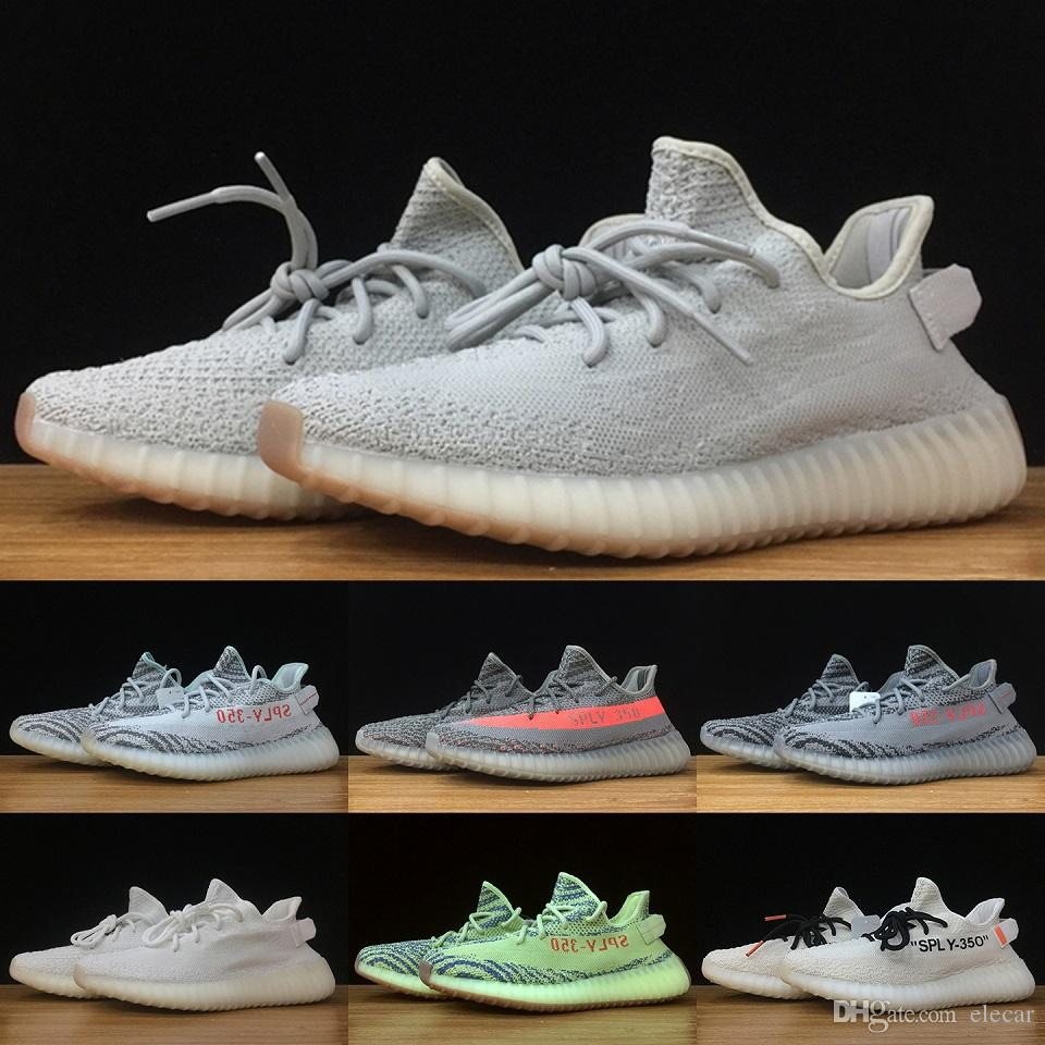 3aee97ba2a514e 2019 2019 With Box 350 V2 Kanye West Running Shoes Zebra Bred Black Butter  New Style Ultra Sneakers US 5 13 From Elecar