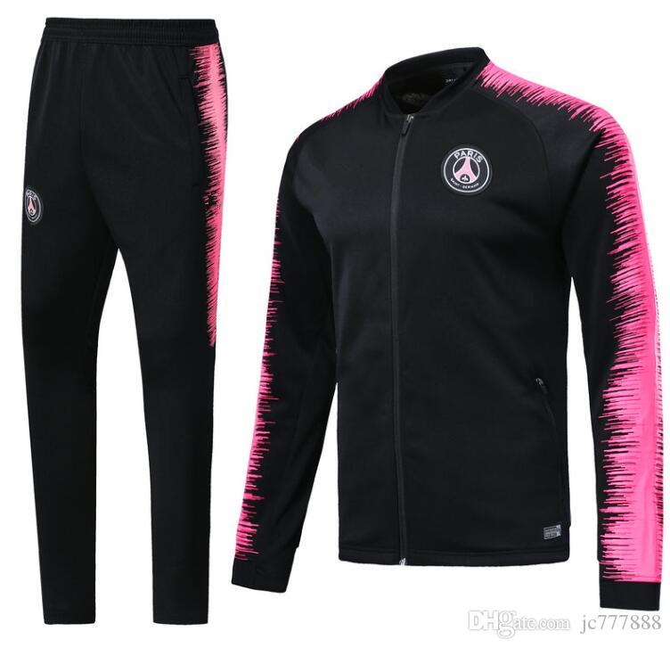 buy online b3e0f 1f451 PSG jacket kit 2018 2019 Paris soccer Training suit tracksuits 18 19 MBAPPE  LUCAS Vêtements de sport de football adult jacket kit