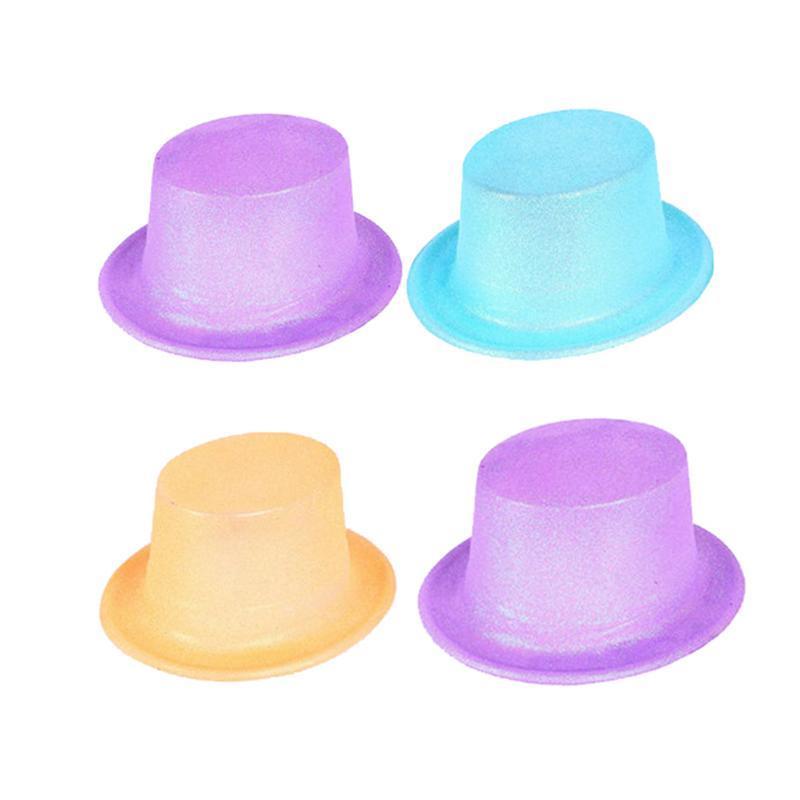 Compre Sombreros De Copa Con Brillo Sombreros De Copa Sombrero De Jazz Para  Sombreros De Copa Coloridos Para Niños Partes De Espectáculos En Escena ... a91dc411934
