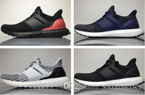 957746127 Cheap Best Quality Ultra Boost 4.0 Knit New Running Shoes Hot Sell Men Women  Breathable Black Grey Blue Boots Sport Sneakers 36-45