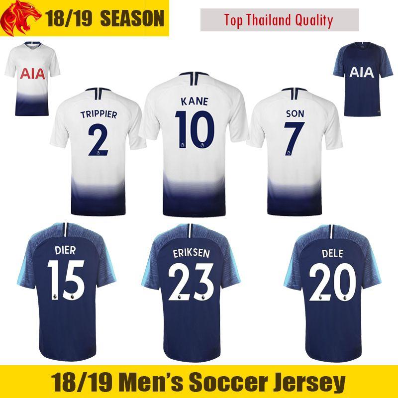 18 19 eriksen soccer jerseys dele football shirt 2018 2019 dier son soccer shirt sissoko wanyama llo