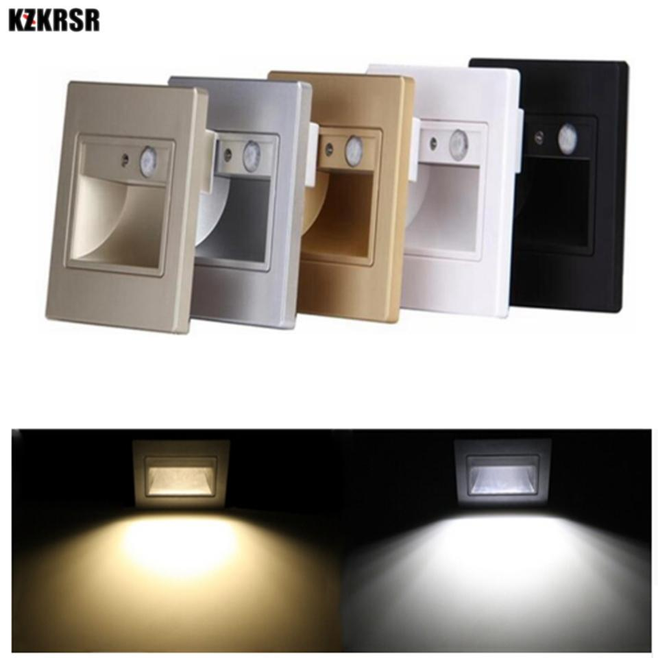 2018 Kzkrsr 1.5w Pir Motion Sensor Led Stair Lights Infrared Human Body  Induction With Light Sensor Recessed Steps Ladder Wall Lights From Burty,  ...