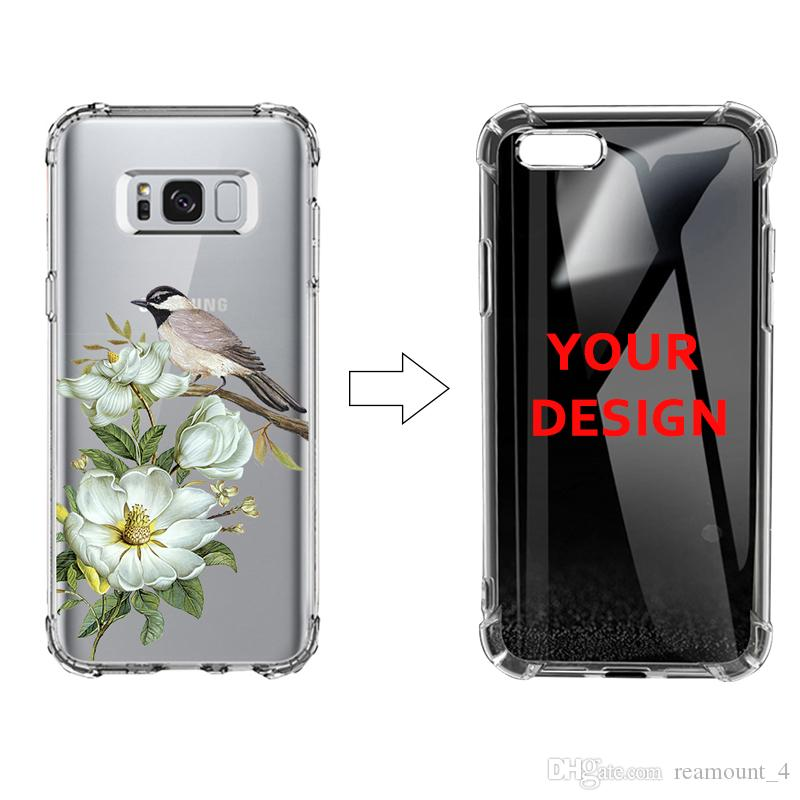 info for 27e95 8f25c Custom Clear TPU Case for Samsung note 9 s9 s9 plus UV Printing Transparent  Air Bag Protective Case