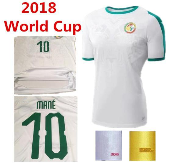 2019 2018 2019 Senegal World Cup Soccer Jersey Top Thai Quality Home White  10 MANE Football Shiirts Camiseta De FUtbol 18 19 Uniforms Jerseys From ... 9063ec86b