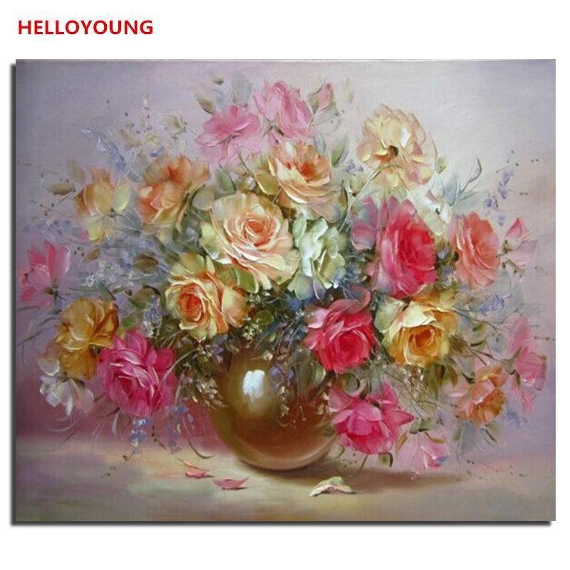 Acheter Fleurs Colorees Peinture Numerique Dessin Peinture Par