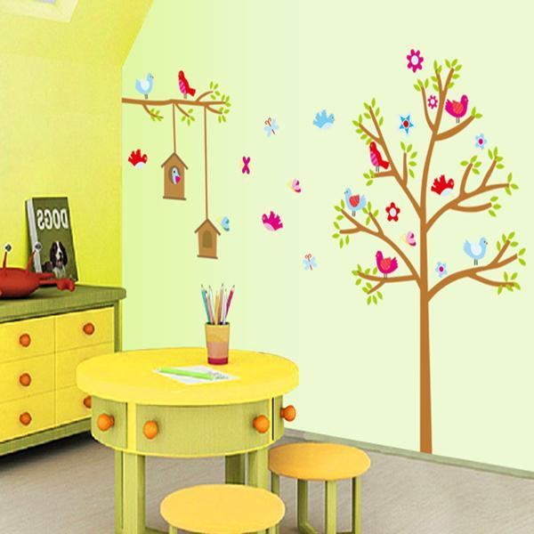 Autocollant mural bricolage arbre maison autocollants amovibles décor à la maison pour les chambres d'enfants adesivos art stickers stikers adhésif parede