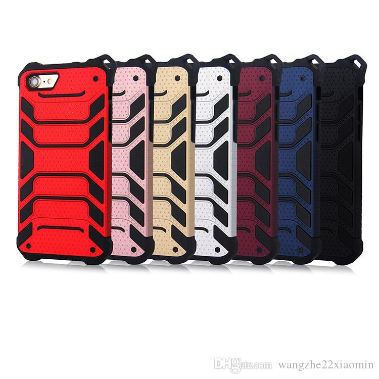 New Design 2 in 1 Hybrid Phone Case for iPhone X 7 7plus Shockproof Mobile Phone Shell for iPhone 6 6s 6plus