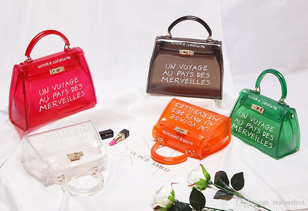 TekiEssica Satchel Handbag WomenBag Clear Jelly Transparent PVC Bag Candy  Color Tote Bag Designer Purse Bolsa Crossbody Bag Canada 2019 From  Realperfect da118f9197877