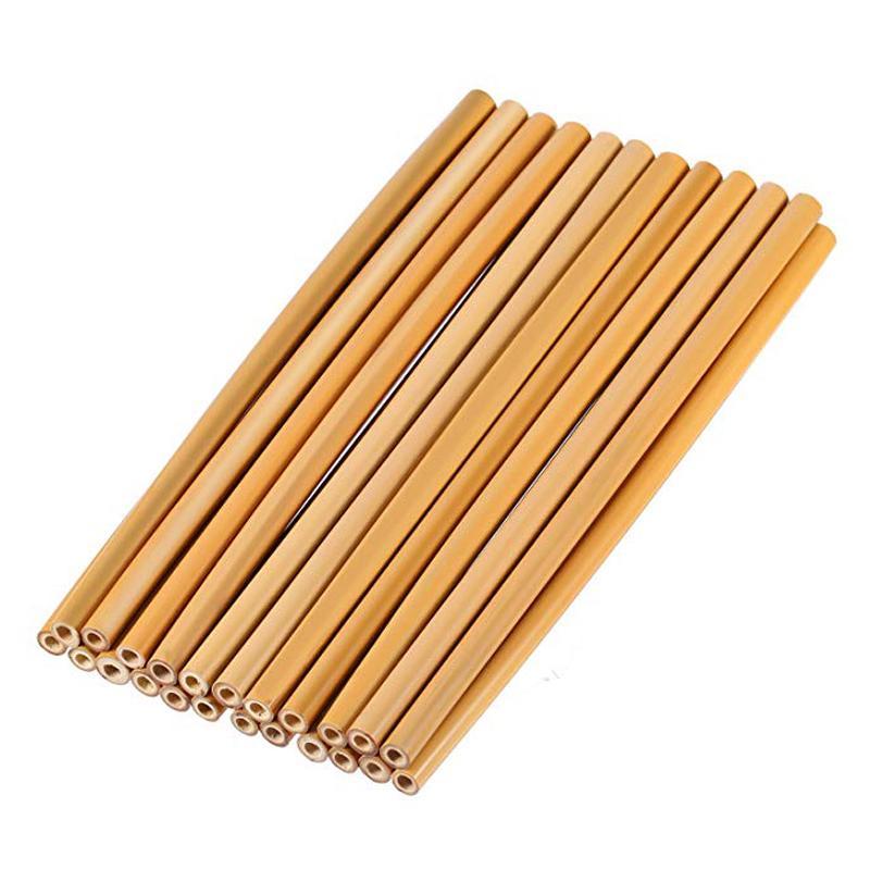 Grosshandel 4 Teile Satz Bambus Stroh Wiederverwendbare Stroh 23 Cm