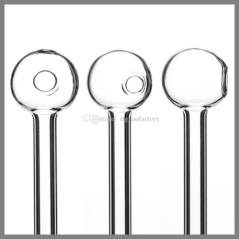 Pyrex прозрачный 11см стеклянный масло курить трубы очистить горелку отличные трубки для ногтей для ногтей воды кварцевый
