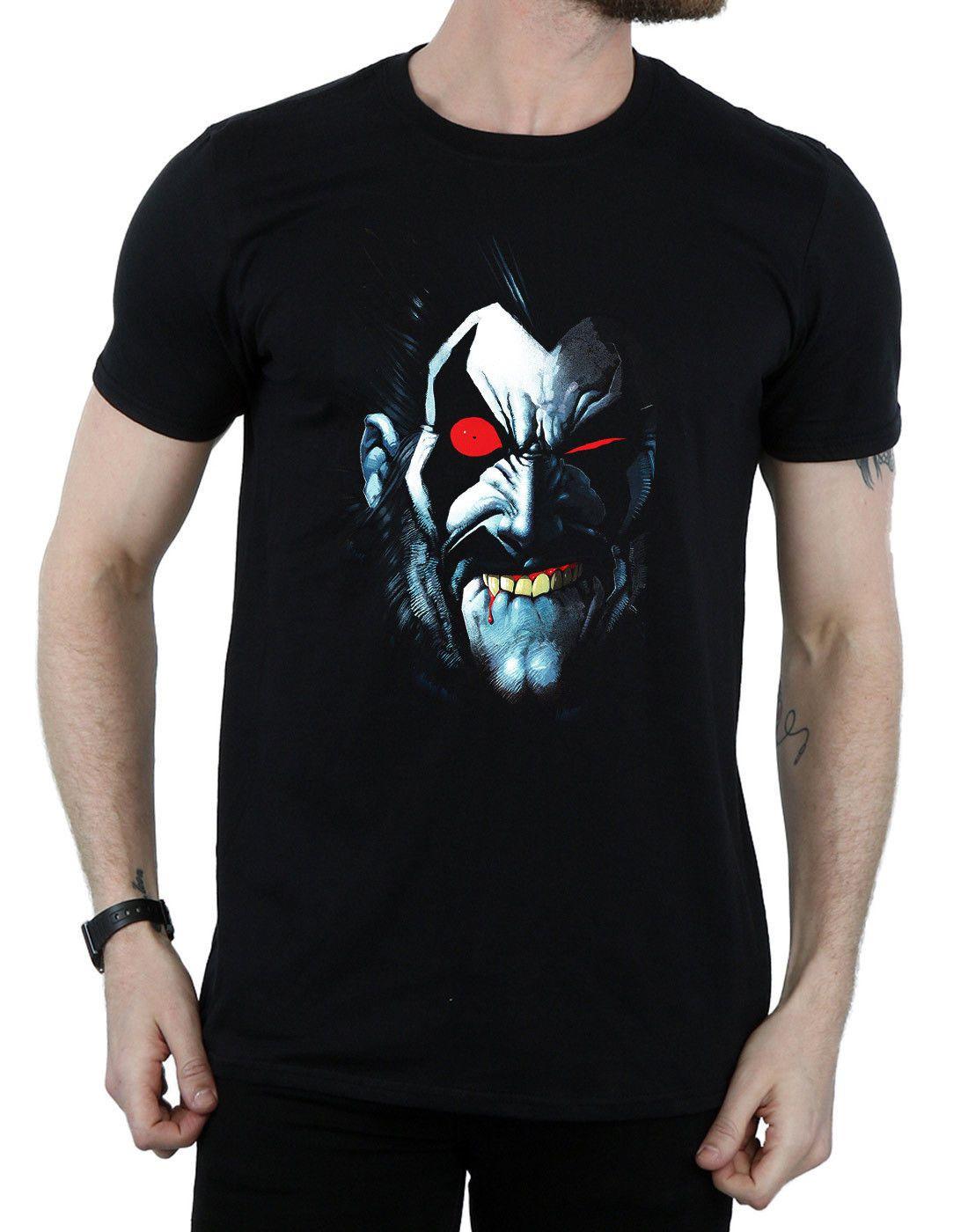 Dc Comics Mens Lobo Portrait T Shirt Short Sleeves Cotton Summer