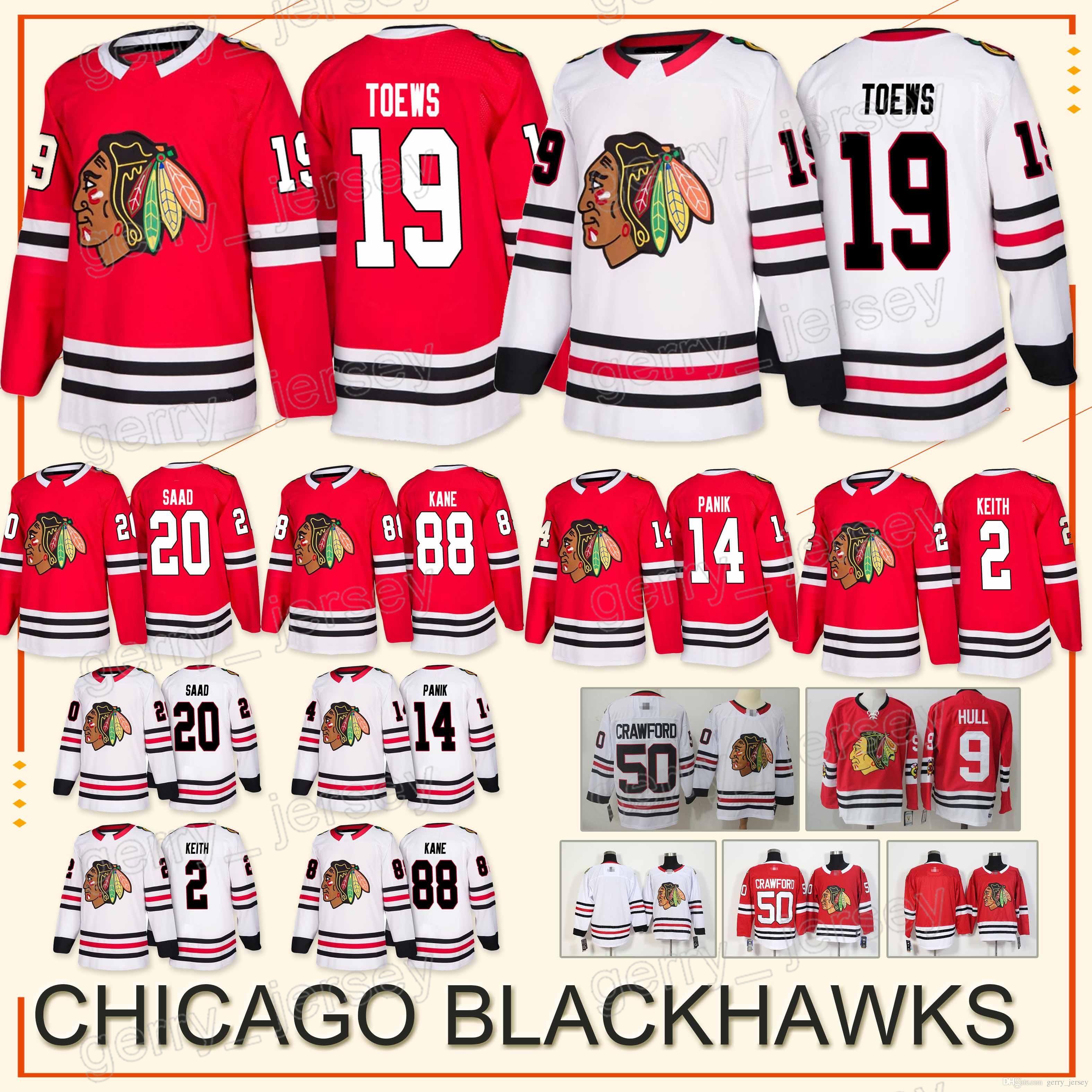 ff9bc1cd Chicago Blackhawks Jersey 19 Jonathan Toews 14 Richard Panik 88 ...