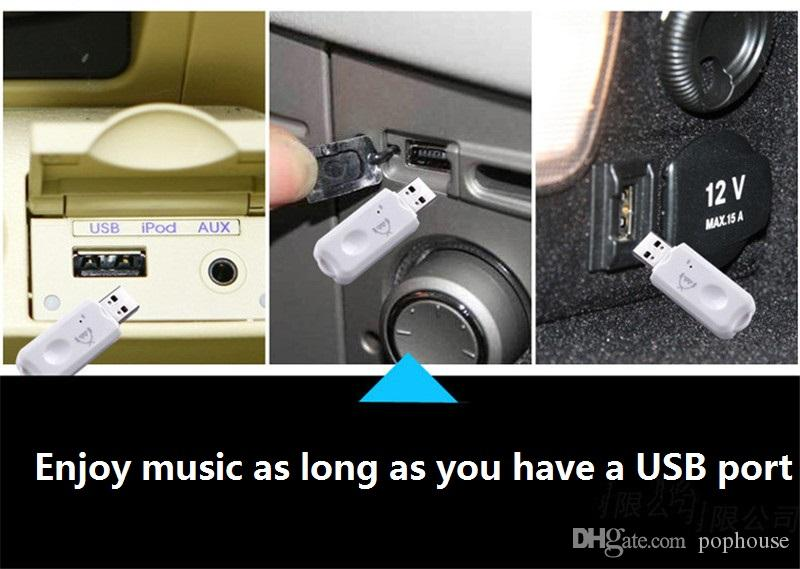 Home Car Bluetooth v2.1 Music Streaming USB Stereo Wireless Audio Receiver Adapter for Music Lovers