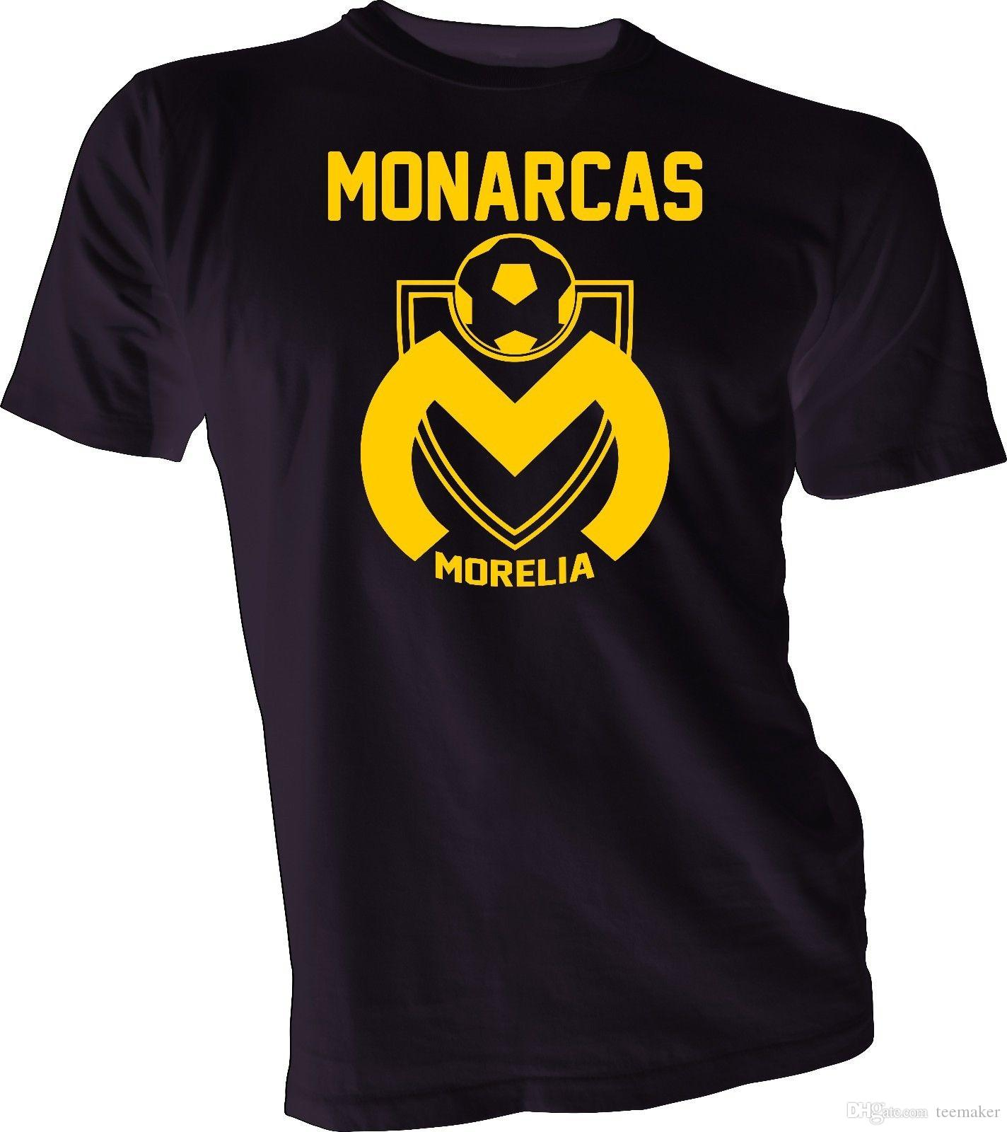e0dd56deb2b92 Compre Camiseta Monarcas Morelia De Mexico Futbol Soccer Camiseta Handmade  Unisex Nueva Camiseta 3XL Camisetas Personalizadas De Manga Corta Equipo  Popular ...