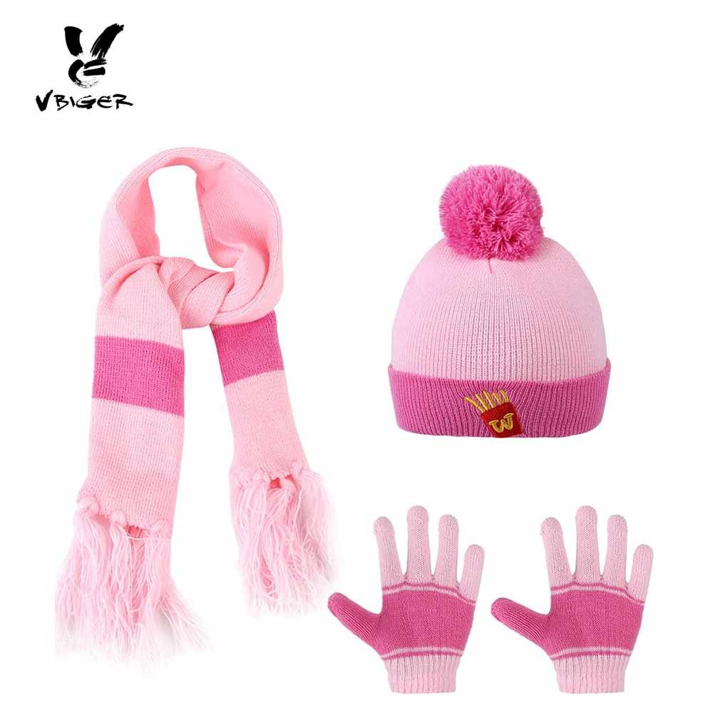 6f257373b991b 2019 Vbiger Cartoon Kids Winter Knitted Scarf Gloves Hat Sets Children  Knitting Wool Beanies Cap Gloves For Boys Girls From Fkansis